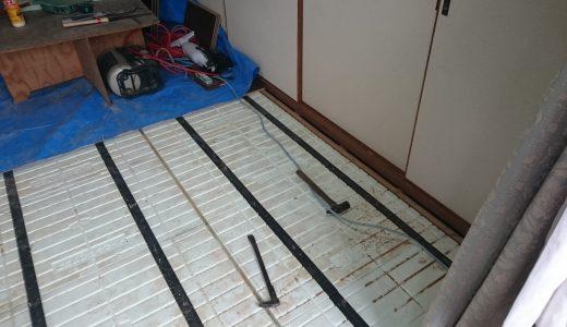 水漏れ被害のあったお宅のフローリング貼替工事